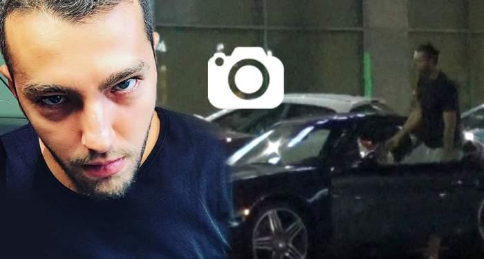 VIDEO PAPARAZZI / Matei Stratan se crede stăpânul şoselelor! A blocat circulaţia şi a mers la cumpărături