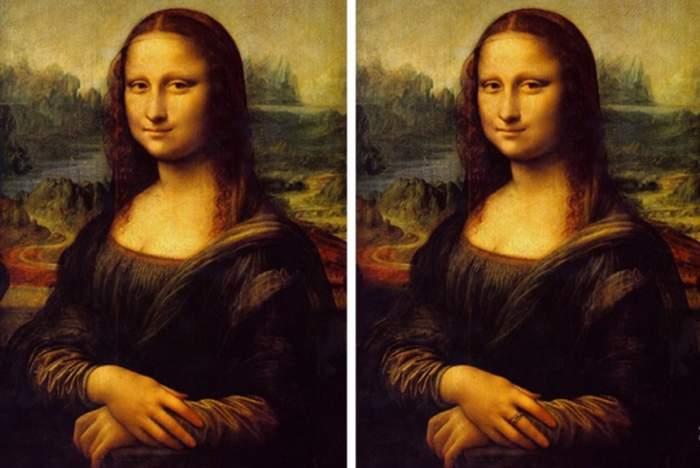 TEST: Găseşte cele două diferenţe dintre portretele Mona Lisei şi află dacă ai o inteligenţă dezvoltată peste măsură