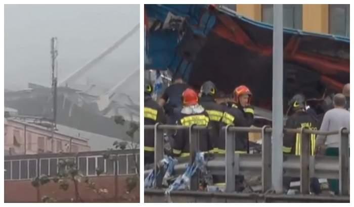 VIDEO / Dezastru în Genova! Pod suspendat prăbușit cu autoturismele care circulau pe carosabil