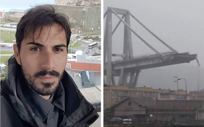 Un fotbalist a căzut 30 de metri în gol de pe podul din Genova! A supravieţuit miraculos!