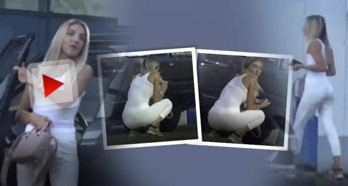 VIDEO PAPARAZZI / Cât de sexy e fiica mijlocie a lui Gigi Becali! Alexandra, apariţie devastatoare în Bucureşti
