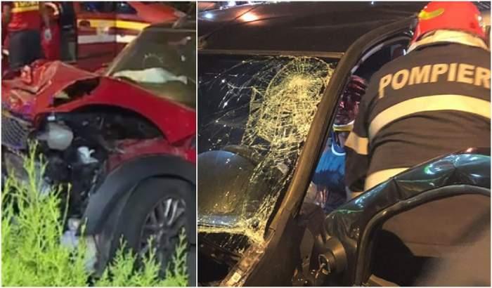 VIDEO / Două mașini s-au făcut praf pe o șosea din București! Șoferul ar fi vrut să se sinucidă