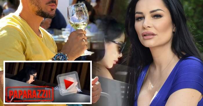 VIDEO PAPARAZZI / Bombă în lumea mondenă! Brigitte Sfăt surprinsă, la restaurant, în compania unui fotbalist celebru şi însurat!