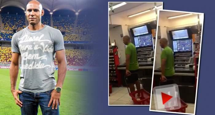 VIDEO EXCLUSIV / Cel mai iubit fotbalist al echipei roş-albastre, Nana Falemi, execută cumpărături în miez de noapte!