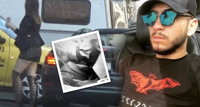 VIDEO PAPARAZZI / O bunăciune a reuşit să-l pună pe jar pe Fulgy! I-a dansat în maşină, apoi i-a arătat semne obscene!