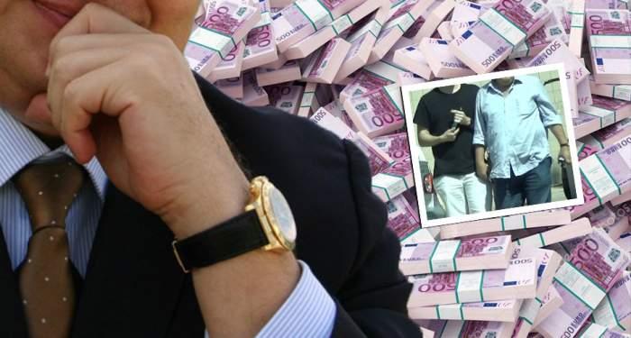 VIDEO PAPARAZZI / Asta e ultima aroganţă a unui afacerist celebru! A ieşit în oraş cu un sfert de milion de euro la purtător