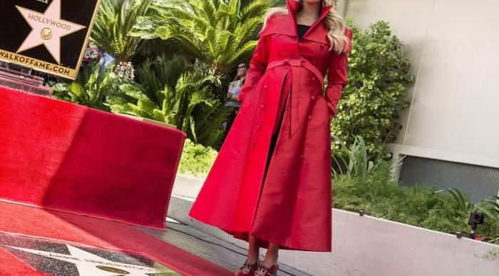 """FOTO / Ea este cea mai recentă posesoare a unei stele pe celebrul """"Walk of Fame"""" din Hollywood! A plâns la ceremonia de inaugurare"""
