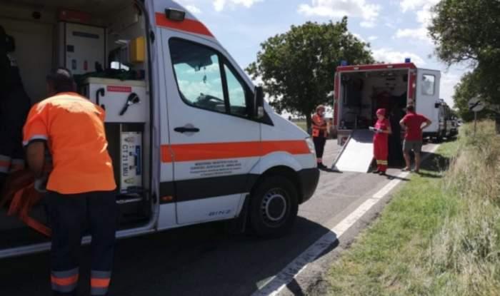 Accident grav pe DN1! O motocicletă a intrat în plin într-un autoturism
