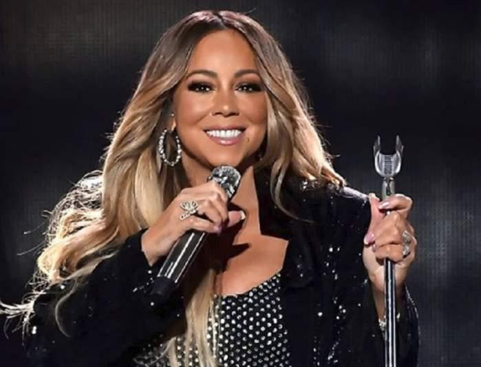 """FOTO / De când a slăbit, o """"arde"""" numai în haine multate! Mariah Carey s-a îmbrăcat ca o puștoaică de liceu"""