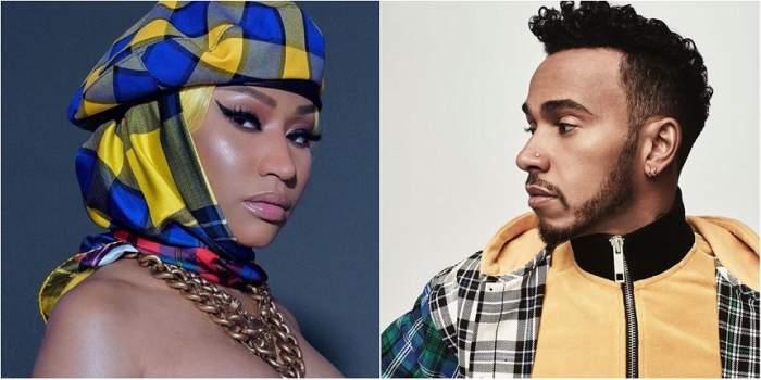 O nouă relaţie bombă? Lewis Hamilton şi Nicki Minaj au fost surprinsi dezbrăcaţi