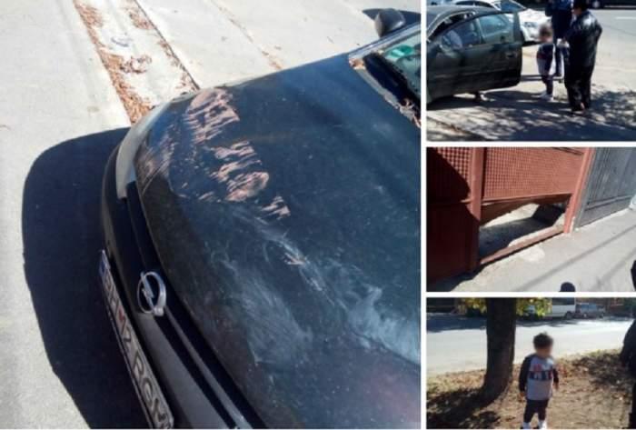 ŞOCANT: Un copil de 4 ani a provocat un accident. Băieţelul se afla la volanul maşinii