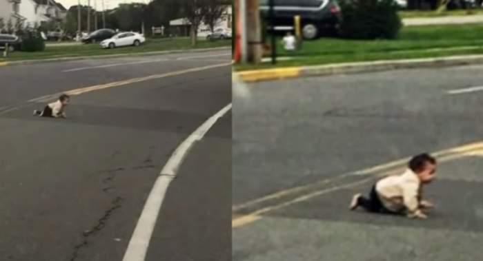 ŞOCANT! Un copil a ajuns pe mijlocul străzii. Ce a urmat e tulburător