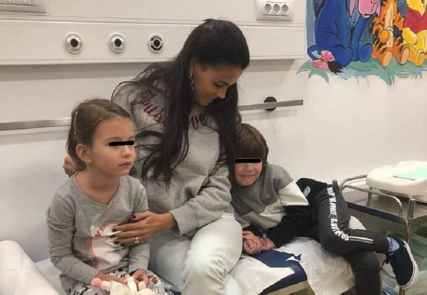 """FOTO / Anca Serea, la spital cu copiii: """"Ţinem pumnii să treacă repede"""""""