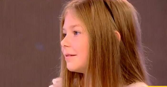 """VIDEO / Maria Nicole, cea mai tânără actriţă din """"Fructul Oprit"""", dezvăluiri emoţionante de la filmări! """"Scenele cu plâns sunt grele!"""""""