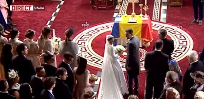 VIDEO / Imagini de colecţie din timpul slujbei de cununie! Clipe emoţionante pentru fostul Principe Nicolae şi Alina Binder