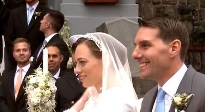 """Mesajul fostului Principe Nicolae, la ieşirea de la biserică! """"Nuntă de vis pentru noi"""""""