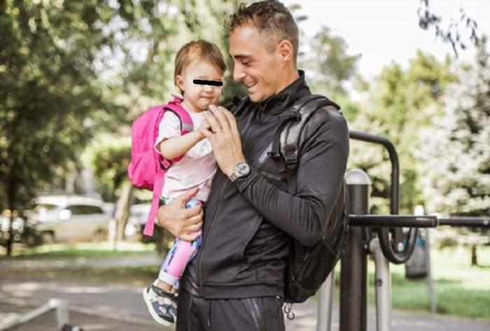 """FOTO / Vladimir Drăghia, """"pus la zid"""" de fetița sa: """"Nu pot să-i rezist când devine lipicioasă"""""""