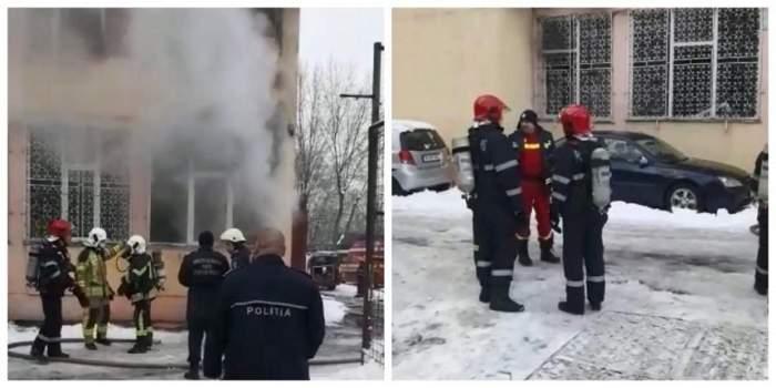 Incendiu la o şcoală din capitală. Pompierii au intervenit pentru salvarea copiilor