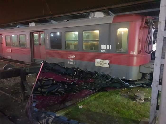 Incident în Gara de Nord! Tren de călători, în pericol