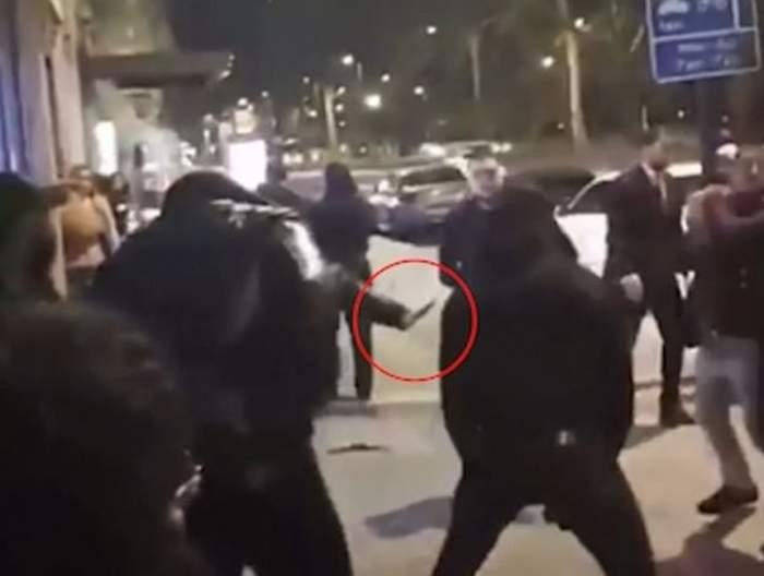 VIDEO / Imagini terifiante cu momentul altercației de Revelion, din Londra, când Tudor Simionov a fost ucis!