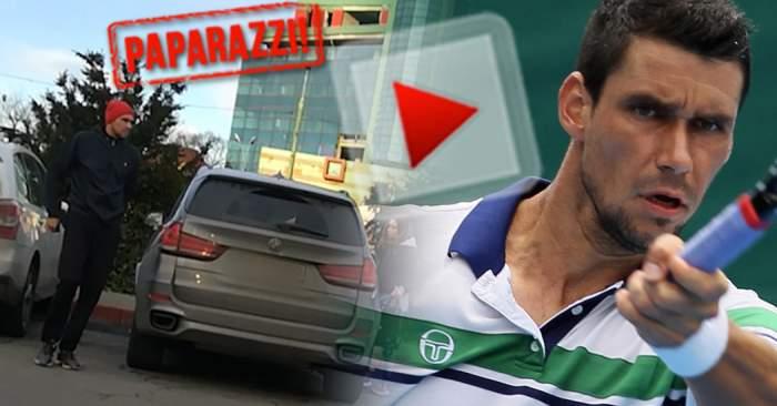 VIDEO PAPARAZZI / Şi-a refăcut viaţa Victor Hănescu? Cum s-a dat de gol pe fostul tenismen