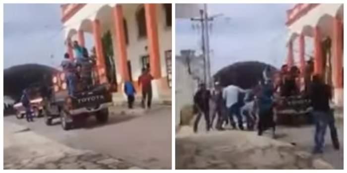Imagini şocante! Primar legat de un camion şi târât pe străzi. VIDEO