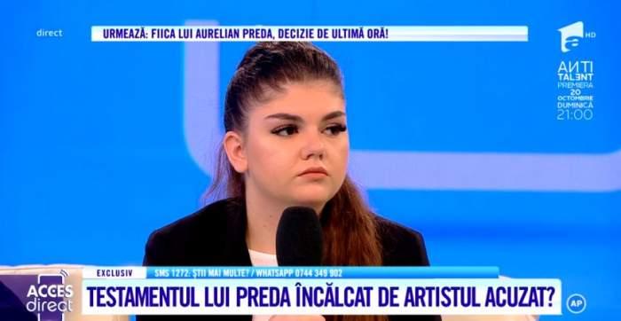 """Anamaria a aflat abia după moartea lui Aurelian Preda că artistul nu era tatăl ei biologic. """"Nu m-a interesat cum am apărut"""""""
