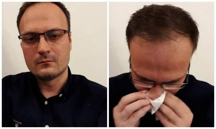 Alexandru Cumpănașu a cedat nervos. A plâns minute în șir, live pe Facebook