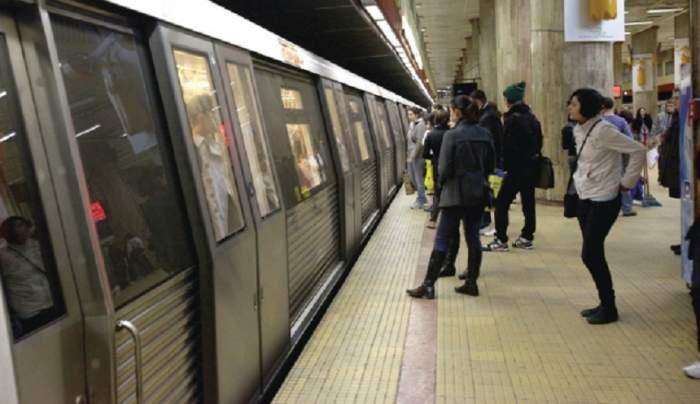 Momente de panică la metrou! O femeie a fost împinsă în fața trenului