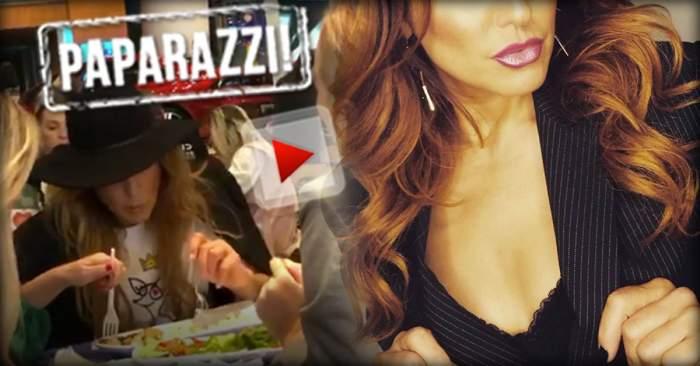 VIDEO PAPARAZZI / Ce dietă, ce siluetă?! O artistă celebră de la noi, surprinsă în timpul unui festin, alături de prietene
