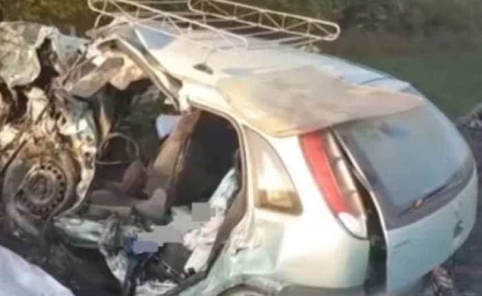 Tineri morţi într-un accident groaznic în Harghita! S-au oprit cu maşina într-o casă