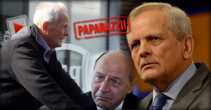 VIDEO PAPARAZZI / L-a făcut să plângă pe Traian Băsescu, iar acum şochează din nou! Theodor Stolojan, apariţie de senzaţie în fieful vedetelor