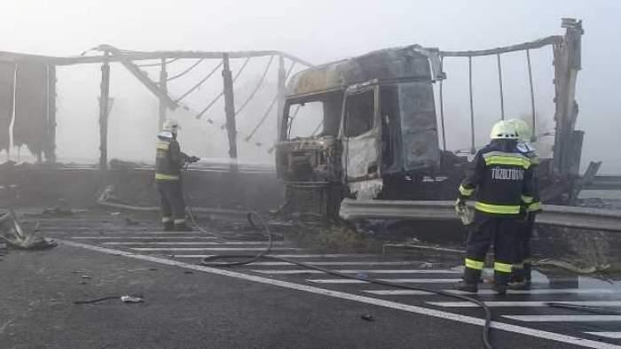 Români morți, într-un cumplit accident în Ungaria. Șapte oameni au ars de vii