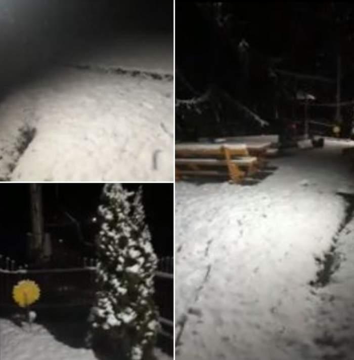 A nins ca în poveşti, noaptea trecută, în munţi. Pârtiile de schi au fost acoperite de zăpadă / VIDEO
