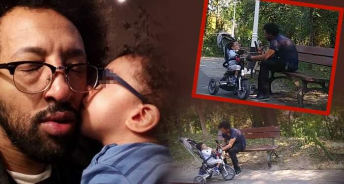 VIDEO PAPARAZZI / Imagini emoţionante cu Kamara şi fiul său bolnav! Cum încearcă artistul să-i aline suferinţa băieţelului