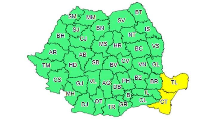 Avertizare meteo de la ANM. Vremea s-a schimbat în toată țara. Cod galben în Dobrogea