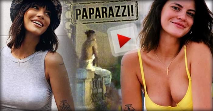VIDEO PAPARAZZI / Iată ce face disperarea din om! Ca să impresioneze, Laura Giurcanu a ajuns să se caţere pe garduri