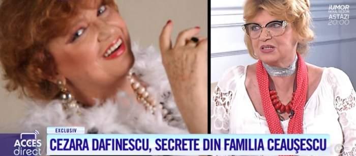 """Cezara Dafinescu, dezvăluiri din casa familiei Ceauşescu! """"De câte ori iubea pe cineva, iubitul dispărea"""""""