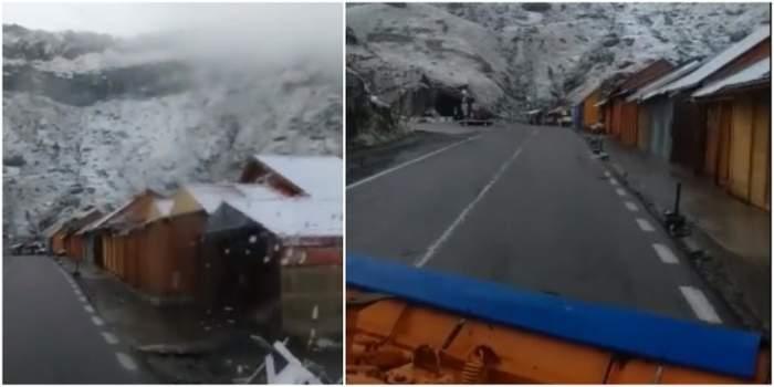 În România a venit prima ninsoare! Care este zona unde s-au așternut deja primii fulgi de nea. VIDEO