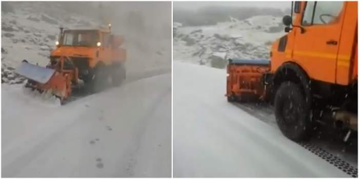 Ninge ca în povești pe Transfăgărășan! Drumarii au intervenit în forță. VIDEO