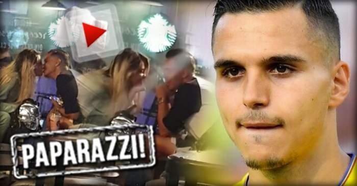 VIDEO PAPARAZZI / Imagini-bombă cu starul lui Gigi Becali! Cristi Manea şi videochatista lui au dat frâu liber sentimentelor într-o cafenea