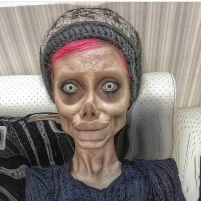 """Tânăra care s-a operat ca să arate ca o """"zombie Angelina Jolie"""" a fost arestată! Ce acuzații grave îi sunt aduse"""