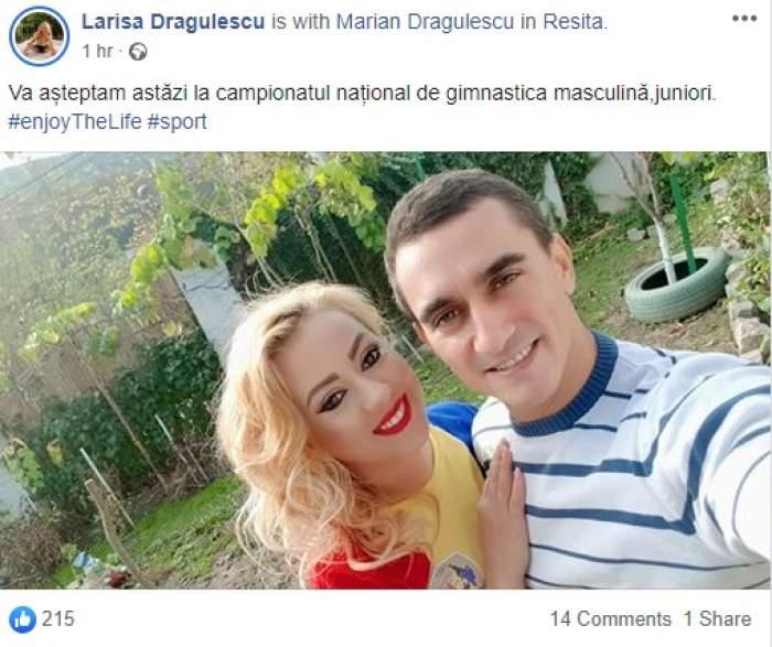 S-au împăcat Larisa și Marian Drăgulescu? Cei doi sunt din nou împreună, după ce ambii au suferit din dragoste