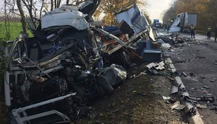 Un alt român a murit într-un accident devastator în Ungaria. TIR-ul pe care îl conducea s-a făcut praf