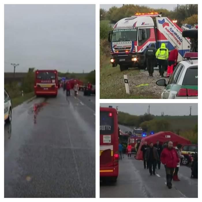 Impact devastator între un autobuz şi un camion! 13 persoane au murit şi alte 20 au fost rănite / VIDEO