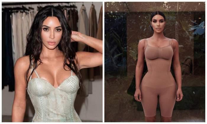 Ce folosește Kim Kardashian în loc de sutien. Pare bizar, dar îi oferă un decolteu bombă!