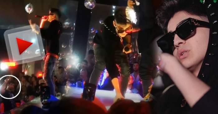 Pahar aruncat, concert oprit și lovitură la cap! Abi Talent, scos cu Poliția din Tulcea! Avem informații exclusive despre marele scandal