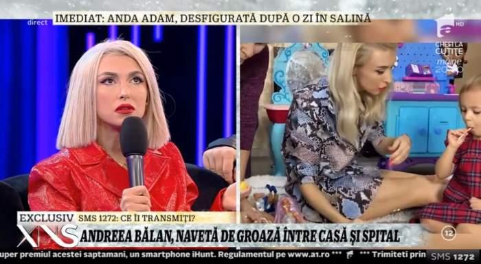 """Andreea Bălan, de urgență cu fiica ei la spital: """"A înghițit ceva și a leșinat"""""""