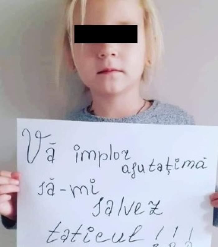 """Mesajul disperat al unei copile, care vrea să își salveze părintele, a înduioșat Internetul! """"Vă implor, ajutaţi-mă să nu îmi pierd tăticul!"""""""