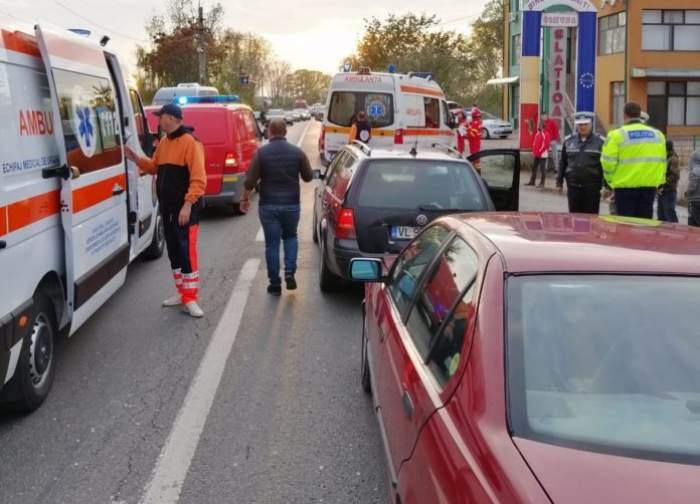 Accident rutier în Slatina. Impactul puternic a făcut mai multe victime